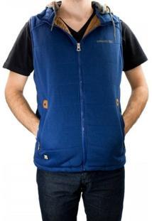 Colete Gangster Moletom Dupla Face 70.12.0022 - Masculino-Azul
