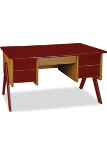 Escrivaninha Vintage 4 Gv Marrom E Vermelha