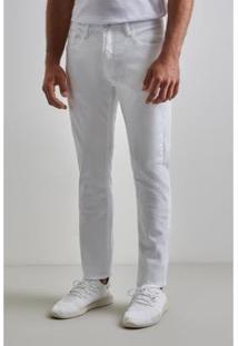 Calça Tec Sempre Reserva Masculina - Masculino-Branco
