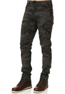 Calça Sarja Masculina Bivik Camuflada - Masculino