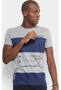 Camiseta Gangster Especial Estampada Masculina - Masculino-Mescla