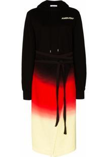 Ambush Vestido Tie-Dye Com Capuz - Preto
