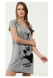 Camisola Feminina Estampa Minnie Manga Curta Disney