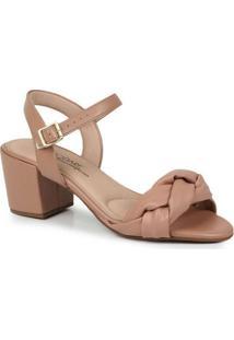 Sandália Salto Feminina Conforto Modare Trançada N