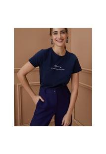 Amaro Feminino T-Shirt Keys Of My Heart, Azul Marinho