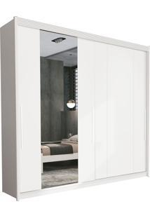 Guarda Roupa Veneza 2 Portas Deslizantes Branco C/ Espelho Móveis Fazzio