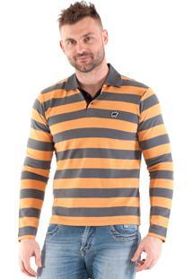 Camisa Polo Konciny Listrada Laranja
