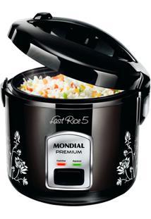 Panela Elétrica De Arroz Mondial Fast Rice 5 Xícaras Função Aquecer Preta