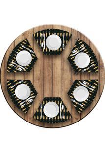 Jogo Americano Love Decor Para Mesa Redonda Wevans Minimalista Pinheiros Kit Com 6 Pçs