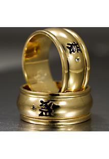 Aliança De Ouro Bicolor Com Diamantes - As0984