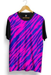 Camiseta Bsc Zebra Stripes Full Print - Masculino-Preto