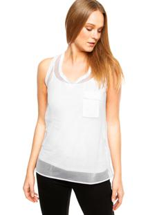 Regata Calvin Klein Jeans Transparência Branca