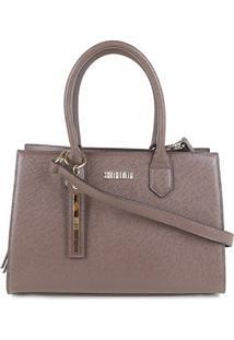 Bolsa Santa Lolla Handbag Feminina - Feminino-Marrom