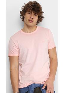Camiseta Ellus Cotton Retrocolor Classic Masculina - Masculino-Rosa Claro
