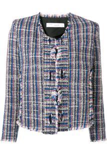 Iro Knitted Style Structured Jacket - Azul