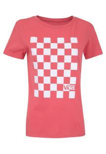 Camiseta Vans U Out Crew - Feminina - Coral