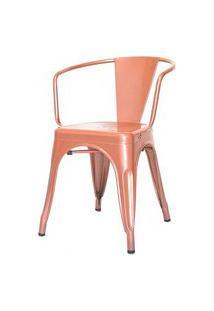 Cadeira Iron Tolix Com Braco Com Pintura Epoxi Cobre - 48289 Preto