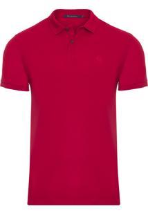 Polo Masculina Piquet Lisa - Vermelho