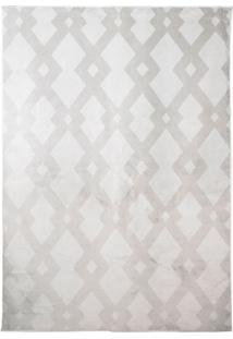 Tapete Geometric Ii Retangular Poliéster (100X140) Cinza