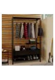 Guarda-Roupa Closet Modulado Castellar Preto