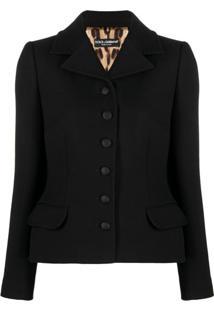 Dolce & Gabbana Fitted Peplum-Hem Jacket - Preto