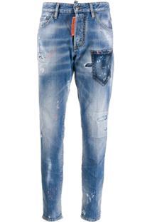 Dsquared2 Calça Jeans Skinny Dan - Azul