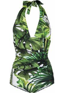 Dolce & Gabbana Maiô Com Estampa De Selva - Verde