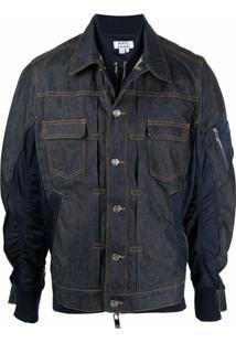 A.P.C. Jaqueta Jeans Híbrida - Azul