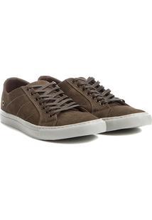 Sapatênis Couro Shoestock Nobuck Color Masculino - Masculino-Musgo