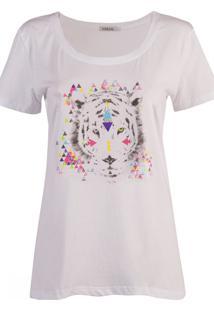 T-Shirt Urban96 Tigre Branco