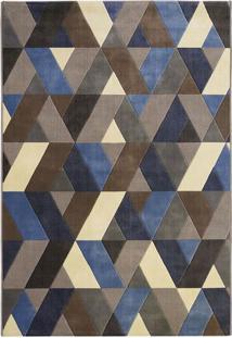 Tapete Pixel D- Azul & Marrom Escuro- 250X200Cm-Tapete Sã£O Carlos