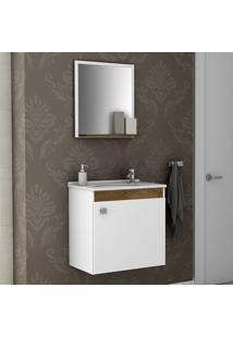 Conjunto Para Banheiro Siena Madeira Rústica/Madeira 3D - Bechara Móveis