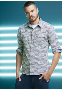 Camisa Masculina Hering Em Modelagem Slim Em Tecido 100% Algodão