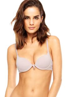 Sutiã Valisere Push-Up Laço Ecolove Nude