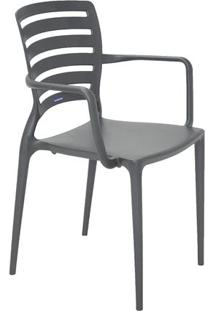 Cadeira Sofia- Cinza- 84,5X58,5X51Cm- Tramontinatramontina