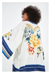 Kimono Cor Em Cor - Est Cor Em Cor_Off White - U