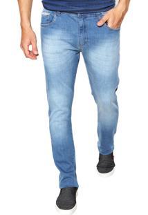 Calça Jeans Malwee Slim Estonda Azul