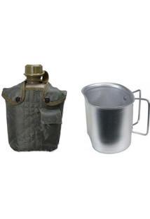 Kit Cantil Tático 950Ml Com Capa Guepardo Ub0100 + Caneca Em Alumínio Guepardo Uc1000 - Unissex