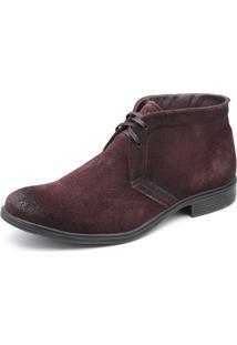 Bota Em Couro Top Franca Shoes Vinho