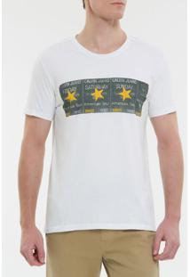 Camiseta Ckj Mc Ticket Estrela - Branco 2 - Pp