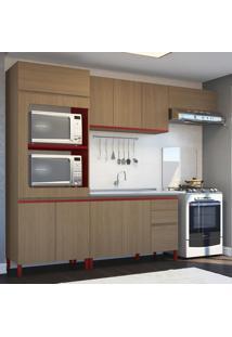Cozinha Compacta New Urban Cb174 Kappesberg Nature/Marsala