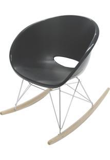 Cadeira Elena Preta Com Base De Balanço 92084009 Tramontina