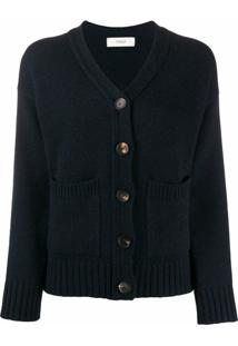 Pringle Of Scotland Cardigan Com Bolso - Azul