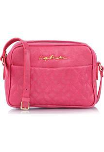 Bolsa Pequena Matelassê Em Couro Estriado Rosa
