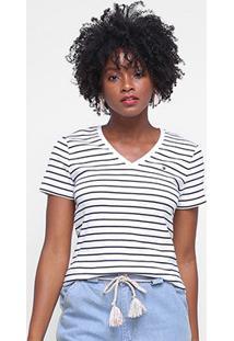 Camiseta Tommy Hilfiger Listrada Feminina - Feminino