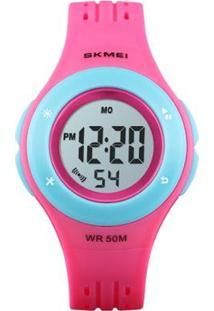 Relógio Infantil Skmei Digital Feminino - Feminino-Rosa+Azul