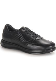 Sapato Conforto Masculino Jota Pe Walker - Preto