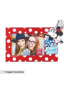 Porta Retrato Minnie Mouse® - Vermelho & Branco - 10Zona Criativa