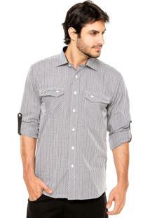 Camisa Fiveblu Xadrez Preta