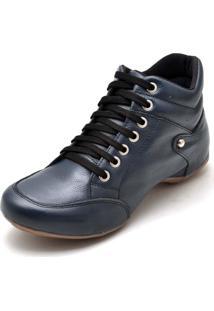 Bota Sport Clube Do Sapato De Franca Top Confort Azul-Marinho